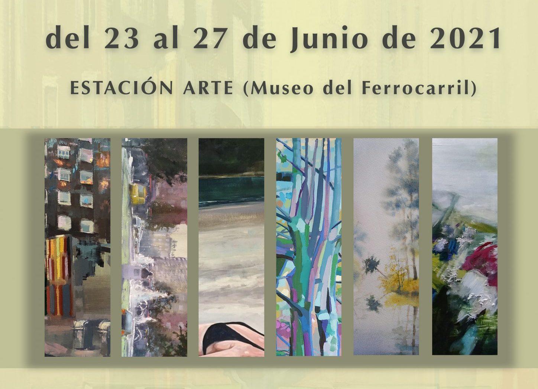Exposición colectiva de pintores bercianos en Estación Arte 1