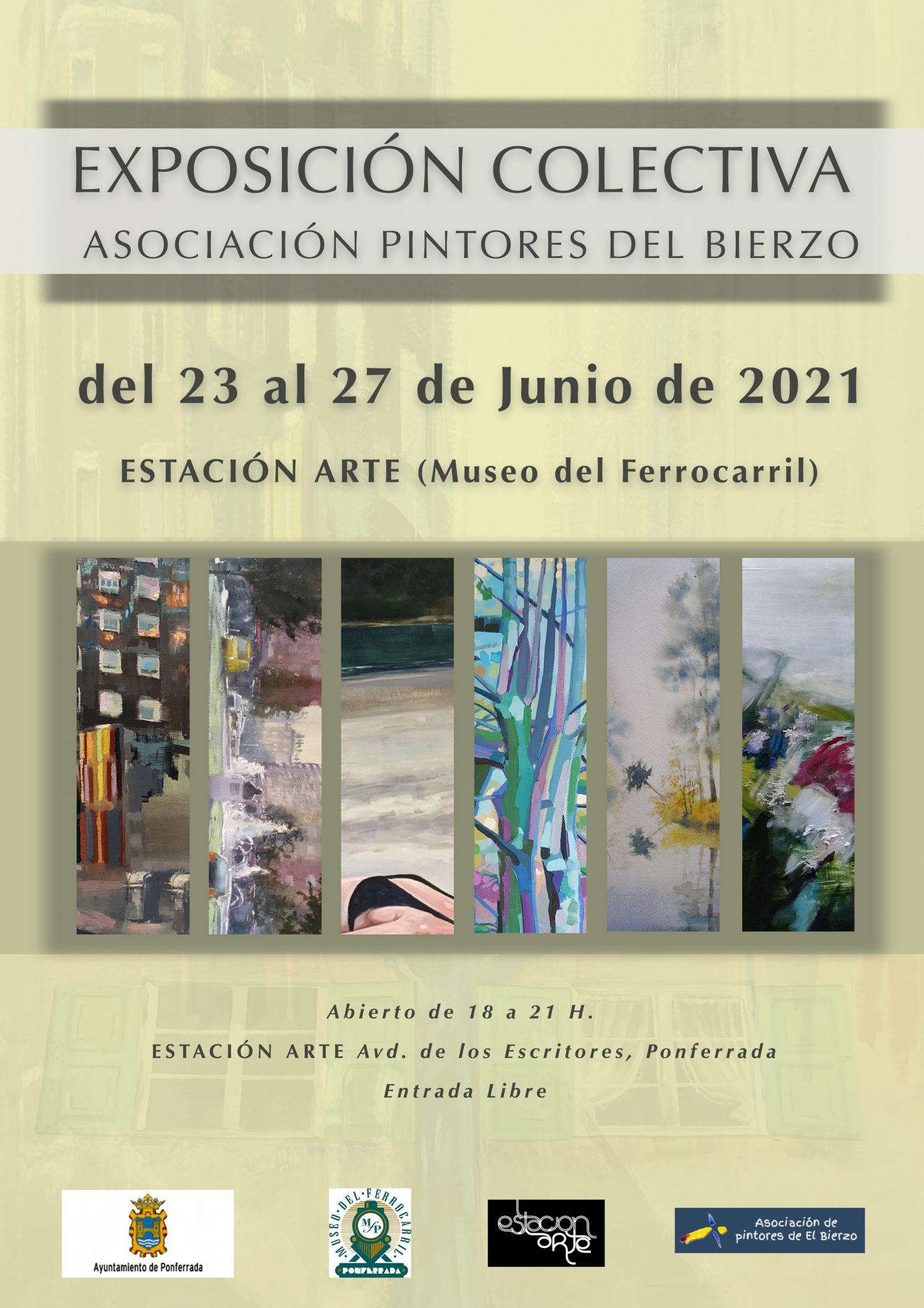 Exposición colectiva de pintores bercianos en Estación Arte 2
