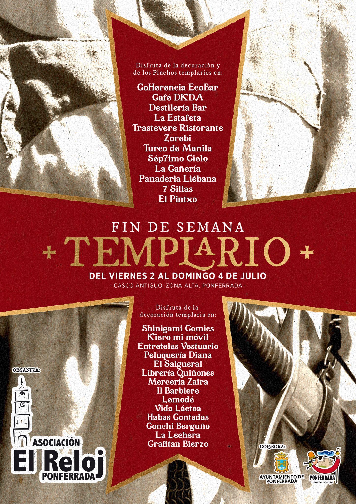Ponferrada Templaria, del 2 al 4 de julio, la ciudad rinde homenaje a su pasado 2
