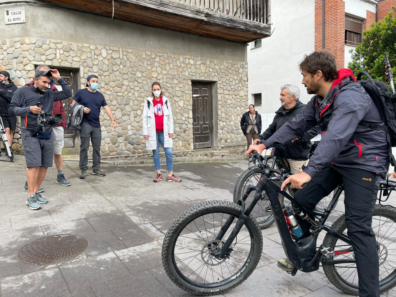La grabación del documental 'Camino Interior' llega al Bierzo para reflejar la historia de superación de Javier Benavente 1