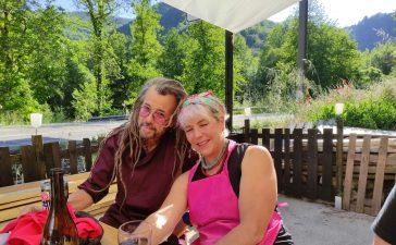 David y Petra de EEUU al Bierzo con Rock&Roll Pizza 1