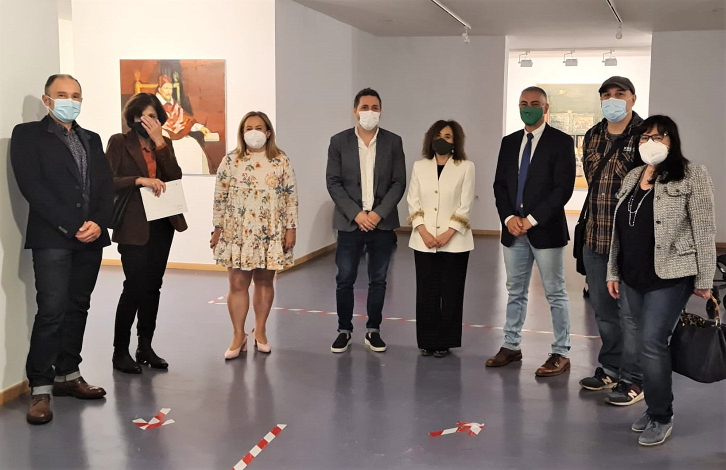 Exposición 'SECUENCIAS' Del pintor Miguel Ángel Pérez Uría en el campus de la Universidad 1