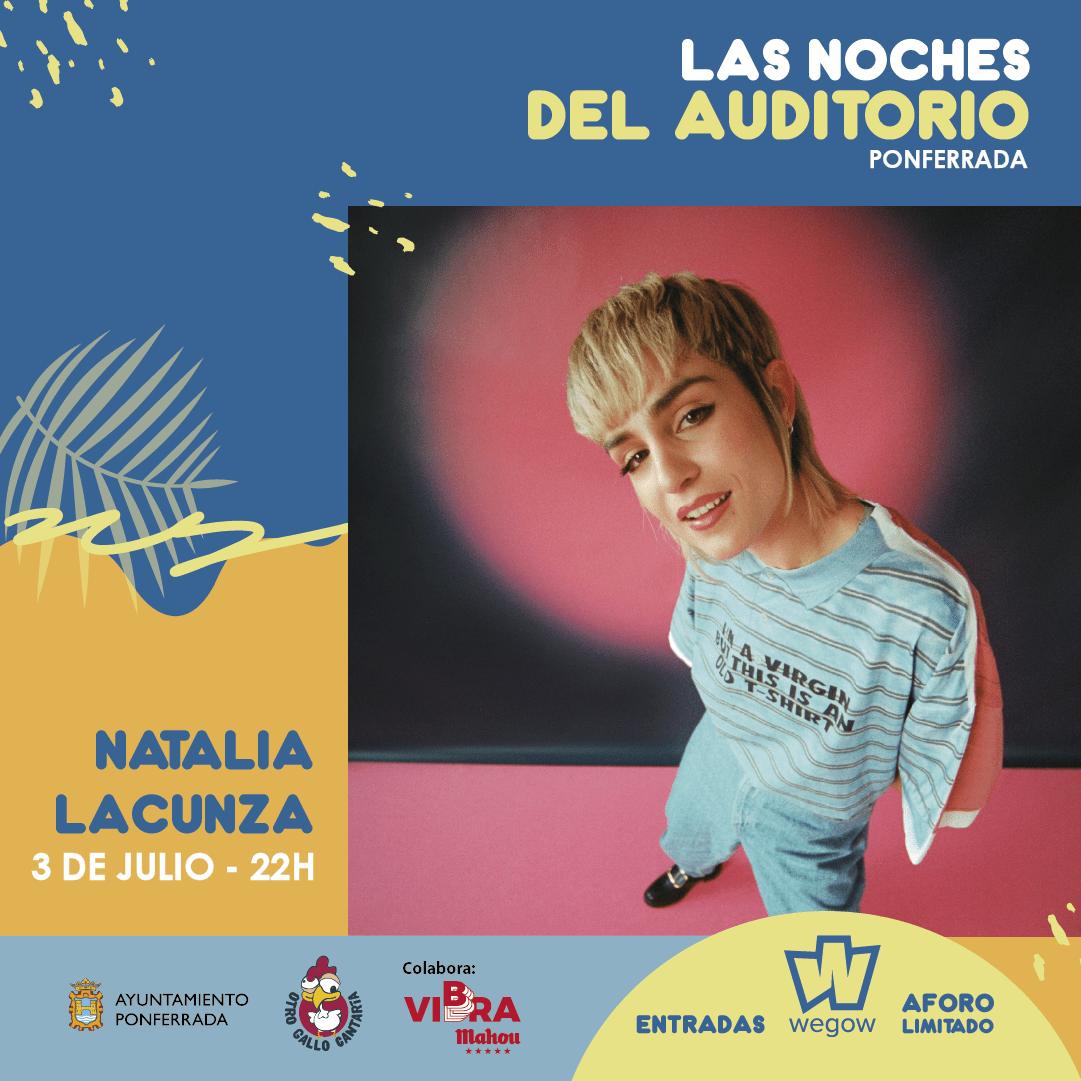 La cantante Natalia Lacunza será la protagonista de la noche del sábado en 'Las noches del auditorio' 2