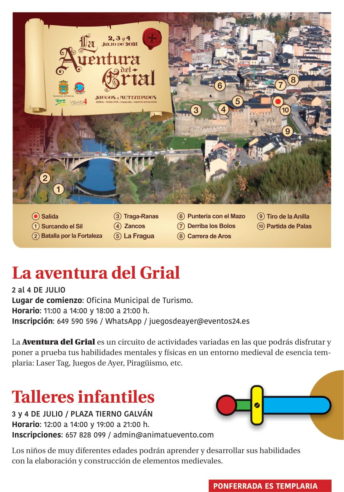 Ponferrada será... música, cultura, monumentos, turismo y más durante el verano de 2021 6