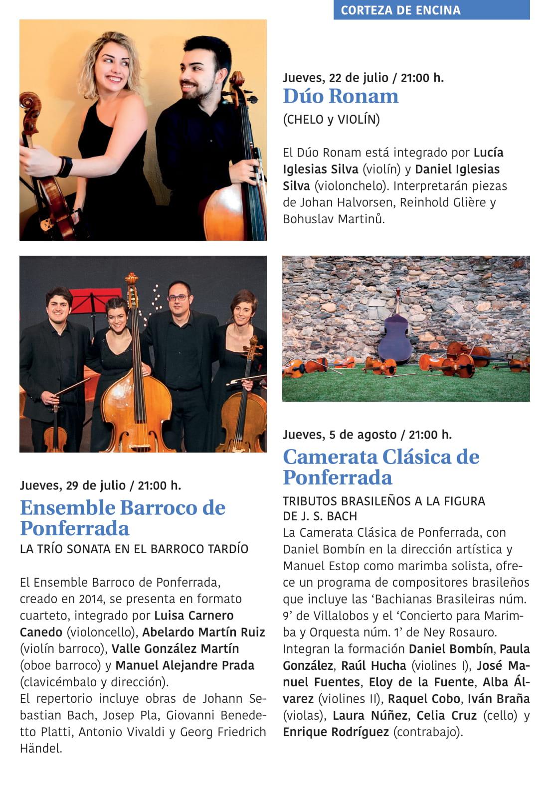 Ponferrada será... música, cultura, monumentos, turismo y más durante el verano de 2021 21