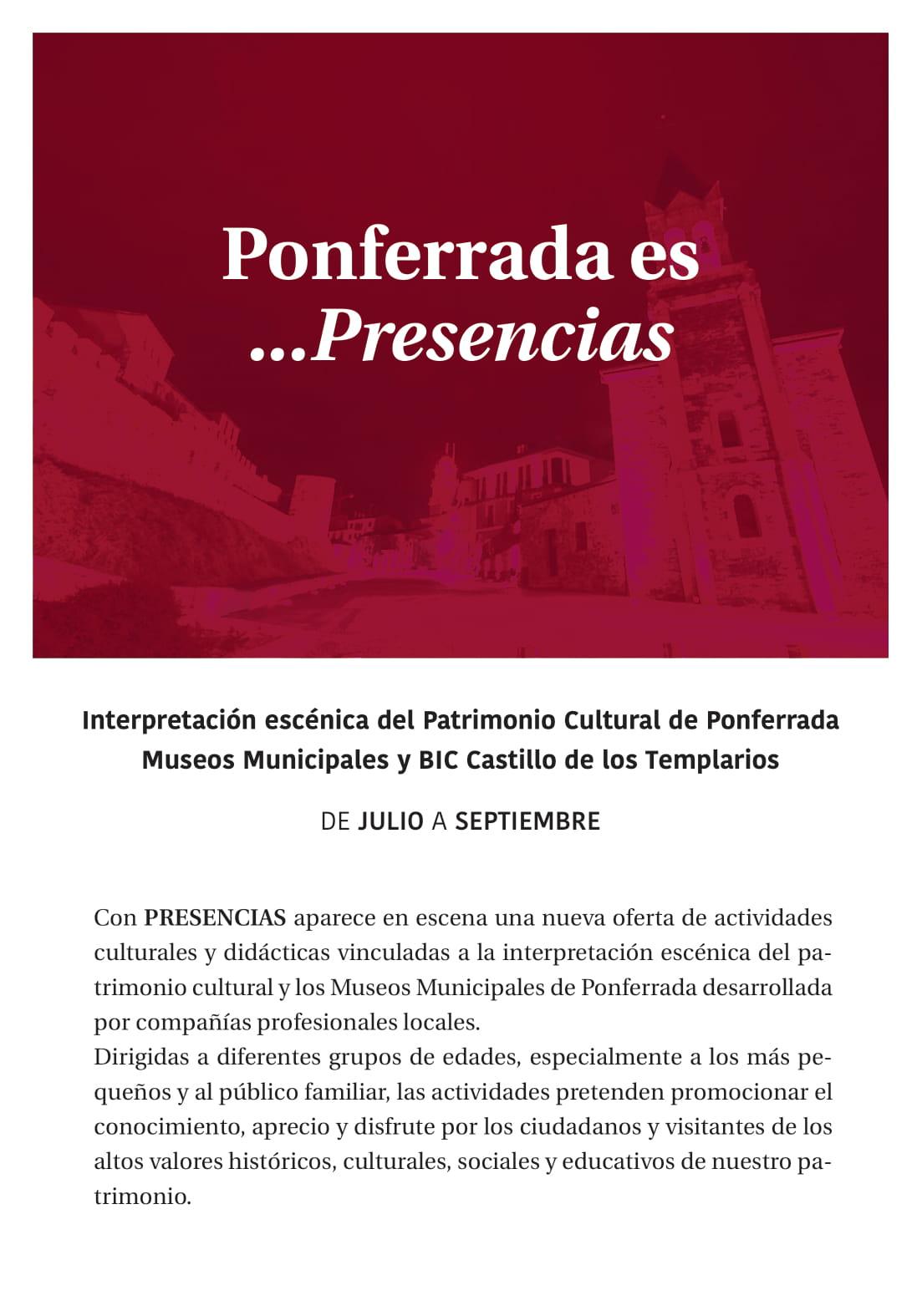 Ponferrada será... música, cultura, monumentos, turismo y más durante el verano de 2021 28