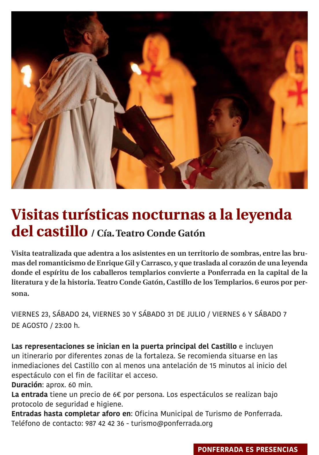 Ponferrada será... música, cultura, monumentos, turismo y más durante el verano de 2021 31