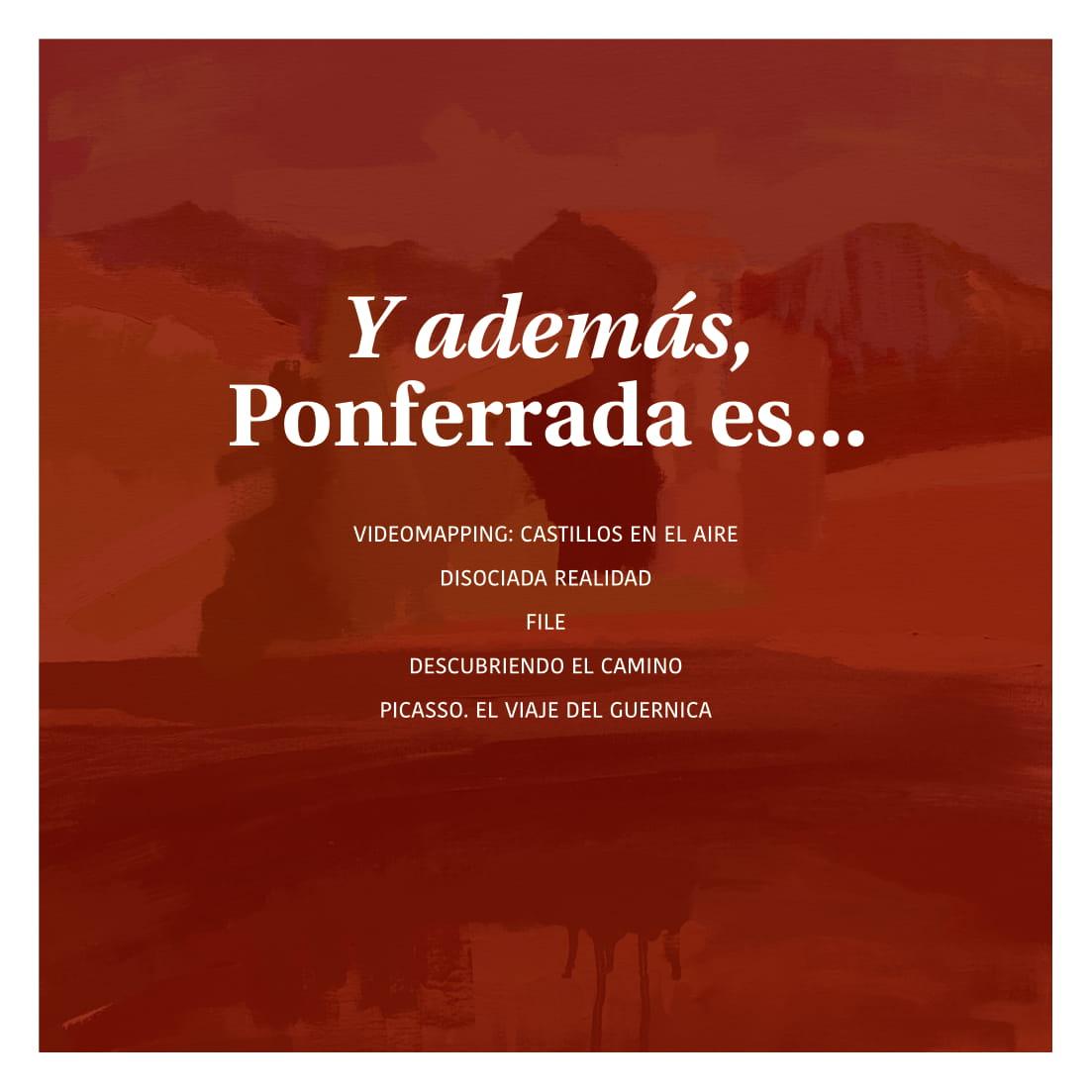 Ponferrada será... música, cultura, monumentos, turismo y más durante el verano de 2021 39