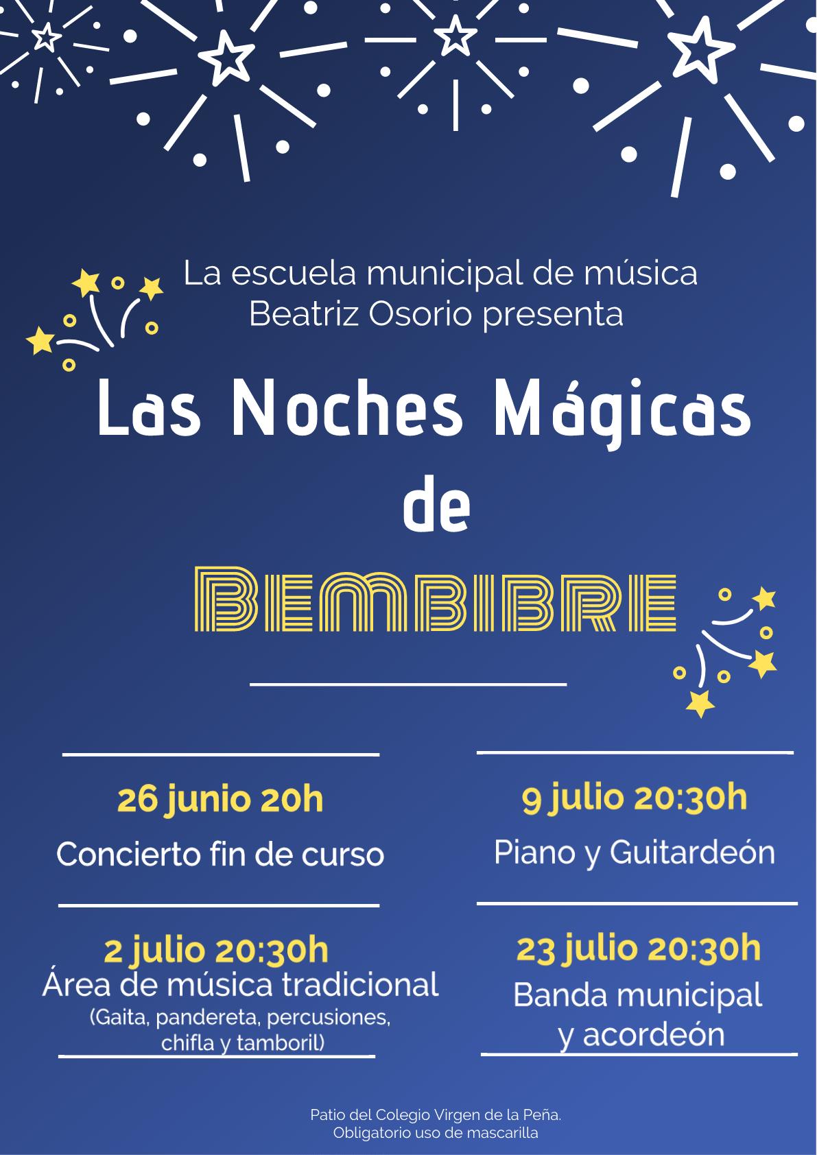 Bembibre organiza las Noches Mágicas con música de los alumnos de la escuela municipal Beatriz Osorio 2