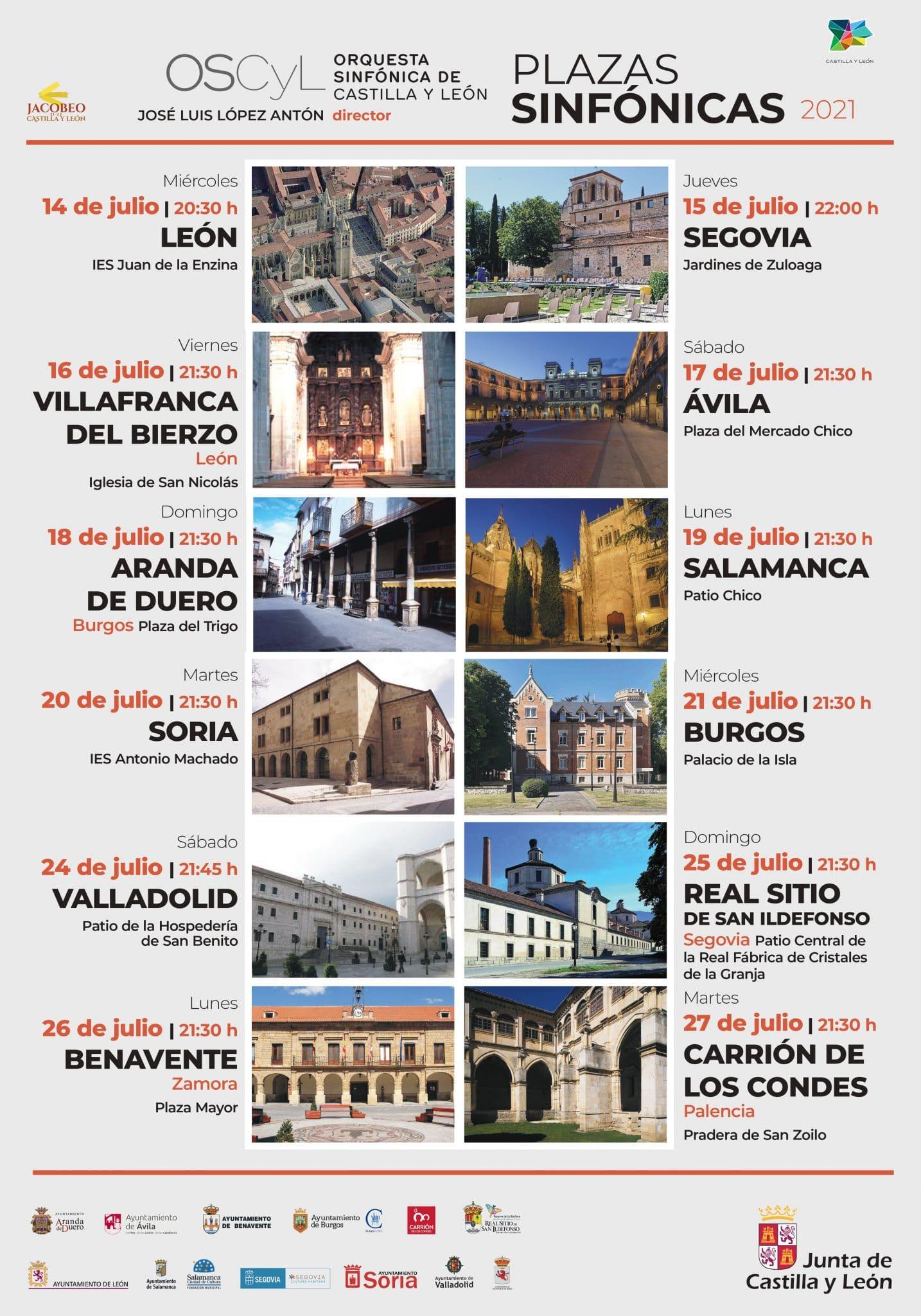 La Orquesta Sinfónica de Castilla y León llegará a Villafranca del Bierzo dentro del ciclo 'Plazas Sinfónicas' con 12 conciertos en las nueve provincias 1