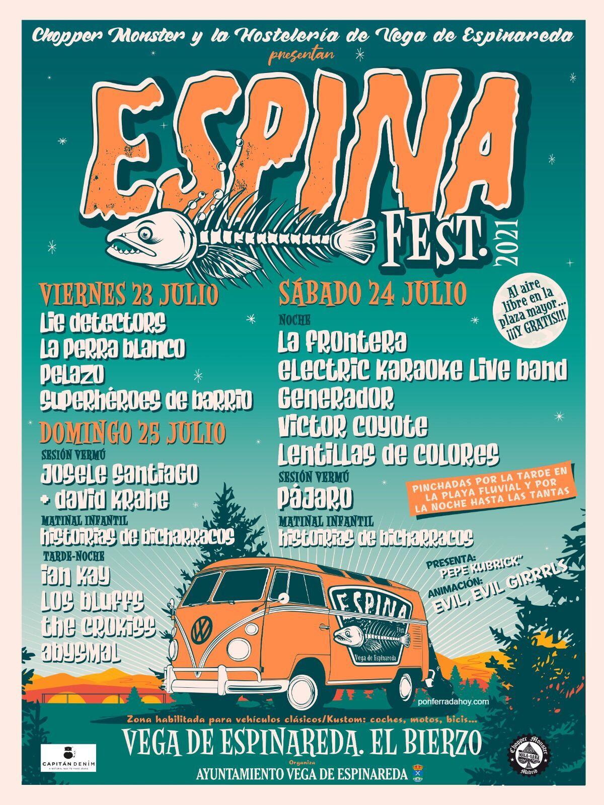 Espinafest en Vega de Espinareda. 23, 24 y 25 de julio. Aquí tienes la programación completa 11