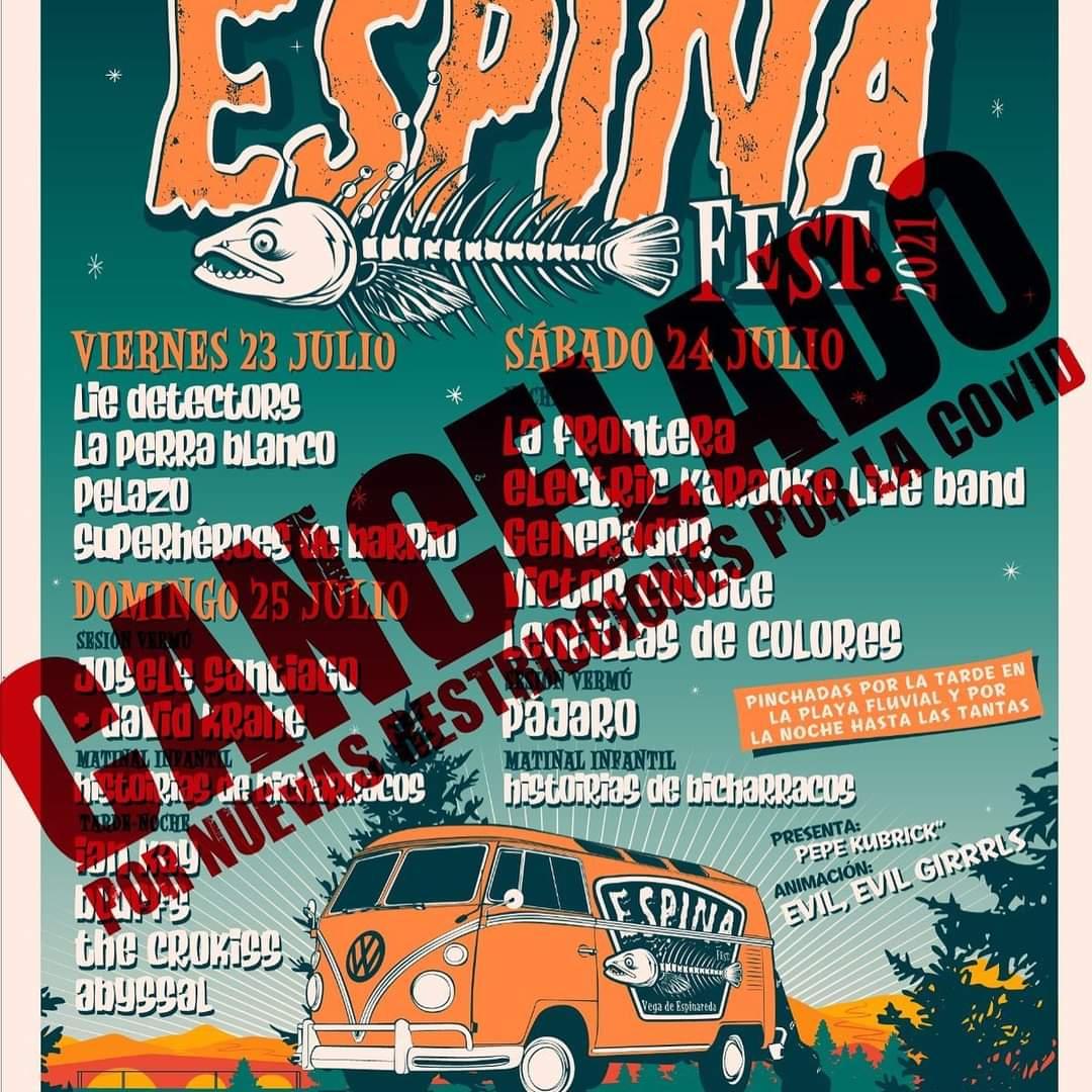 El Festival EspinaFest en Vega de Espinareda se cancela debido a las nuevas restricciones horarias 1