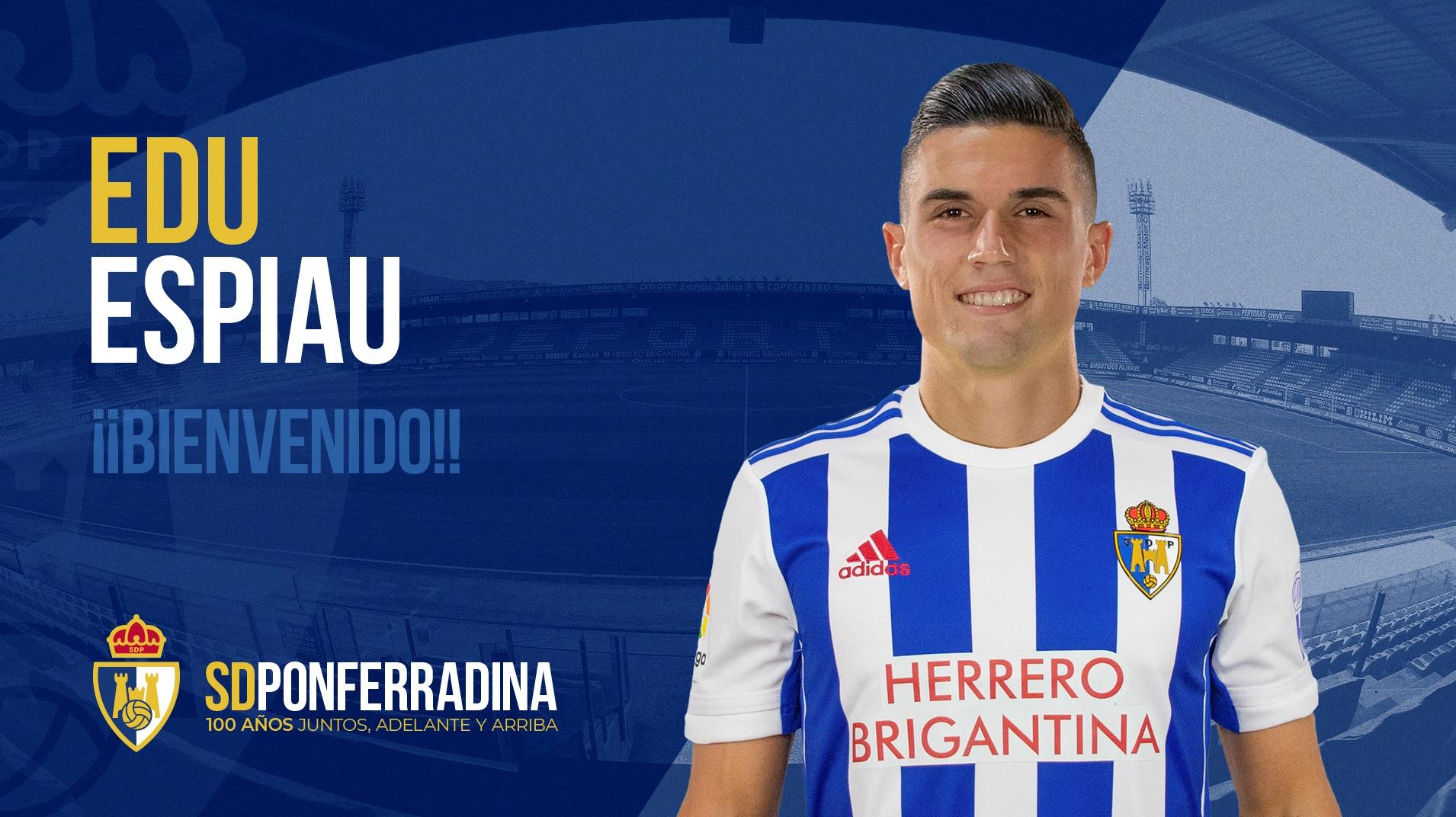 Edu Espiau, un nuevo jugador en la plantilla de la SD Ponferradina. 1
