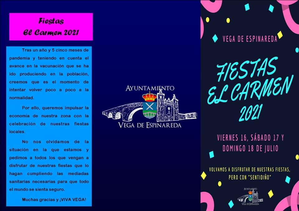 Las Fiestas del Carmen regresan a Vega de Espinareda los días 16, 17 y 18 de julio 3
