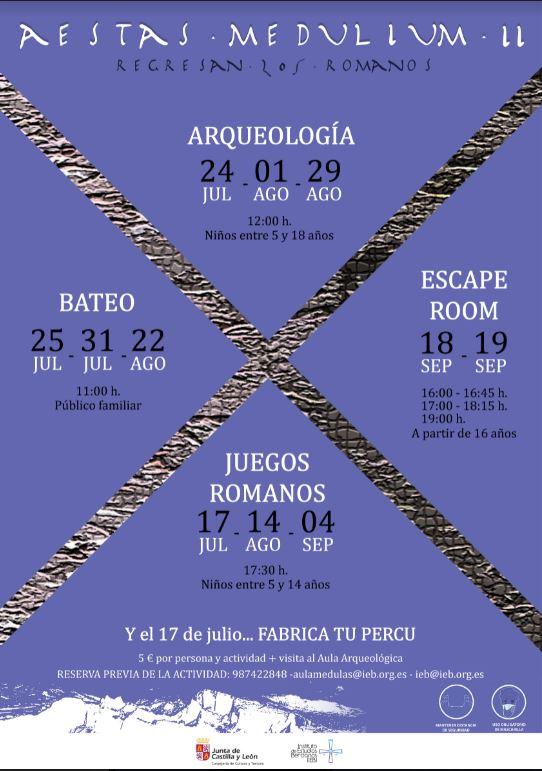 El Instituto de Estudios Bercianos presenta su programación veraniega en el Aula Arqueológica de Las Médulas 2