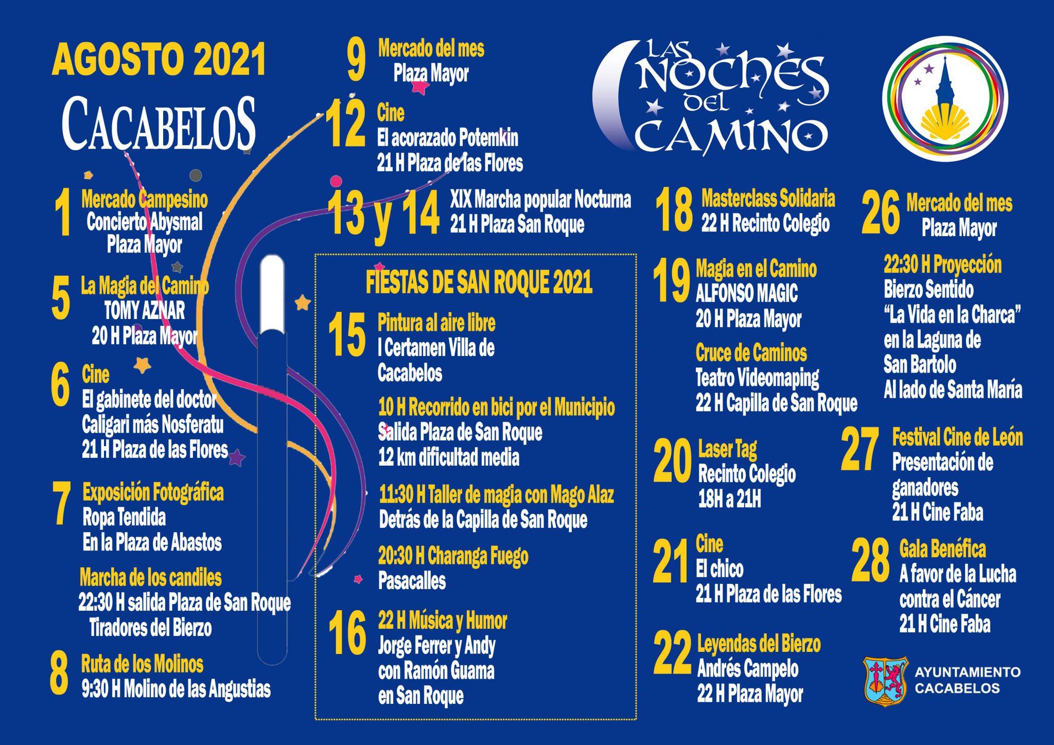 Las noches del Camino regresan a Cacabelos a lo largo de agosto con rutas, magia, música y humor 2