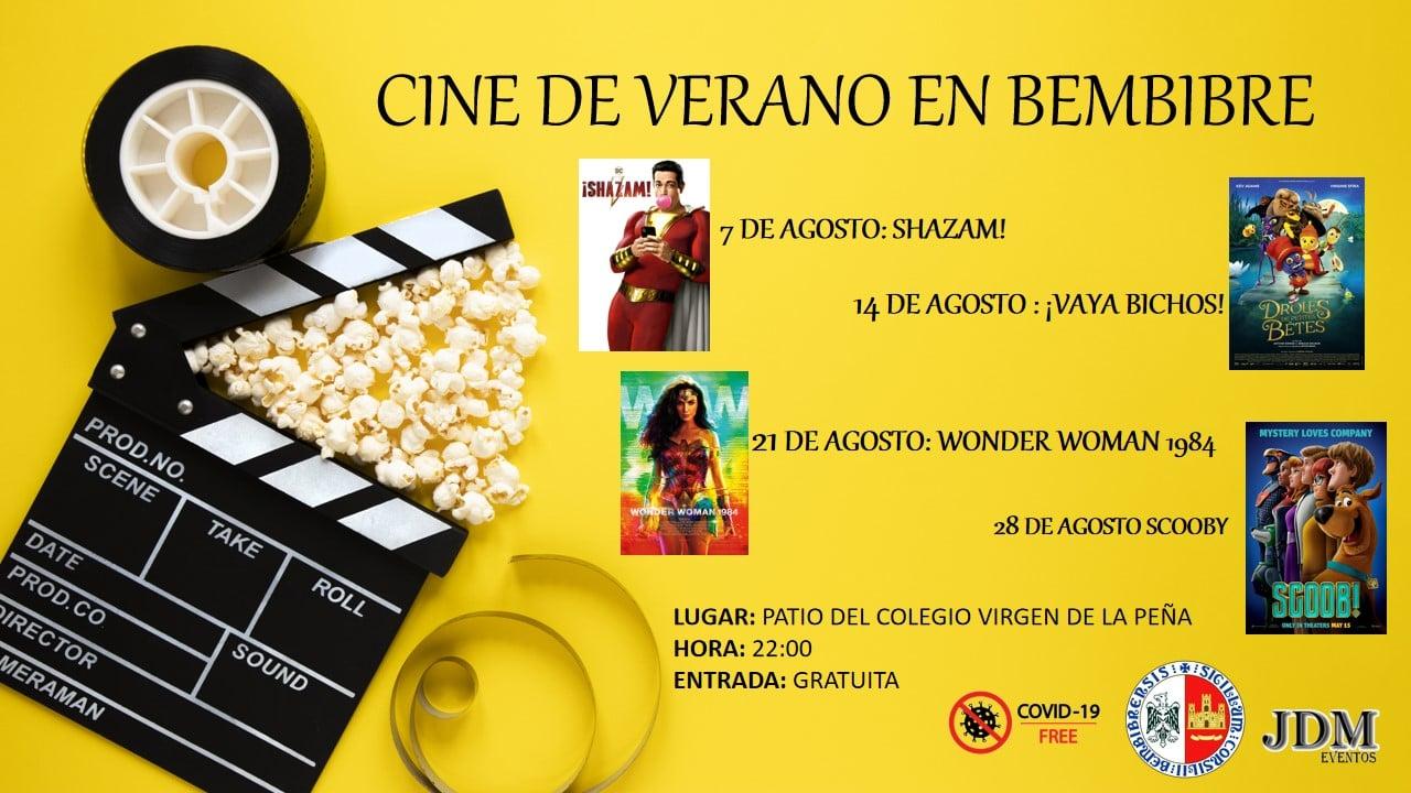 Bembibre organiza cine de verano a lo largo del mes de agosto 2