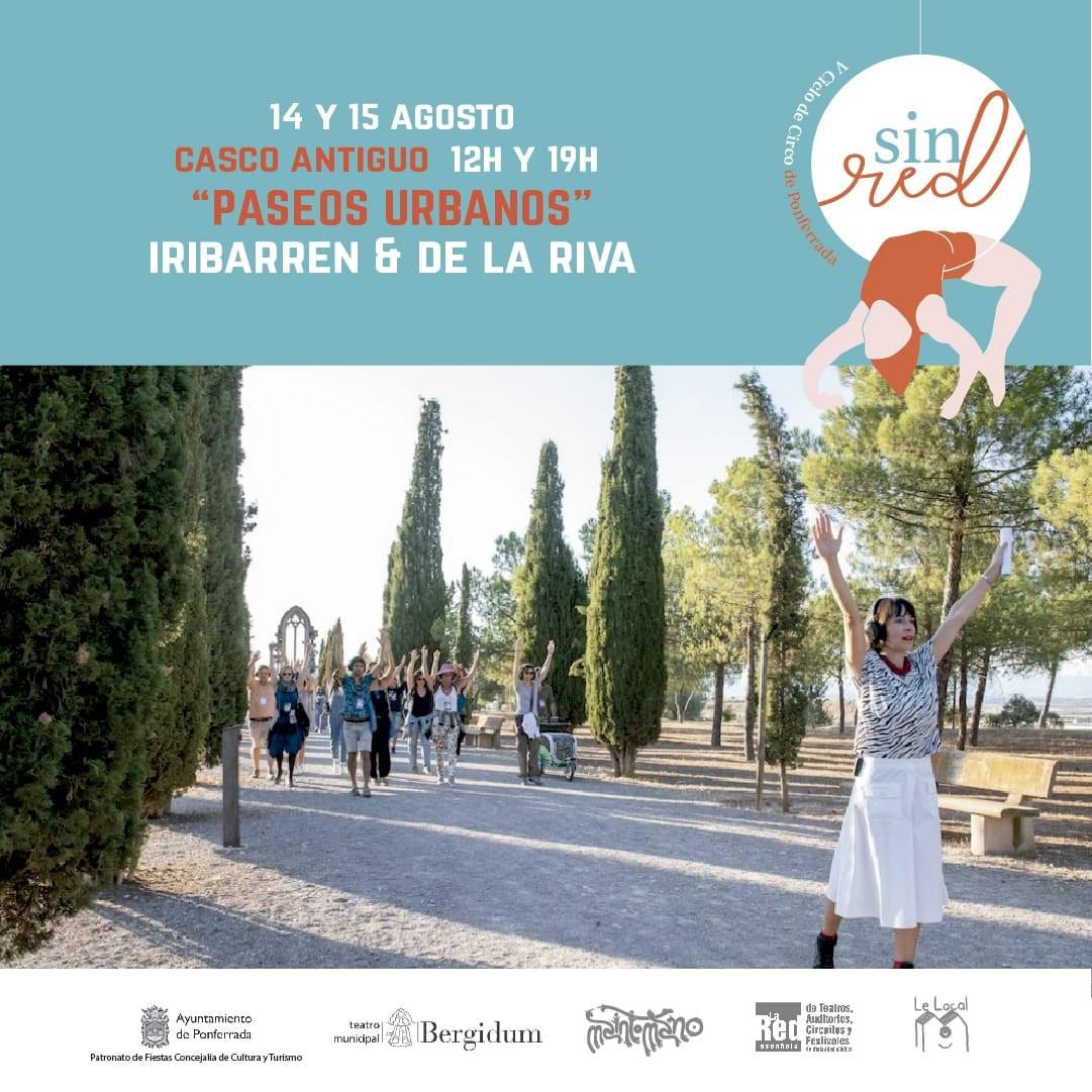 """Paseos Urbanos por Ponferrada, una performance participativa entre la historia, la danza y la acción de pasear """"Ponferrada, camino contigo"""" 1"""