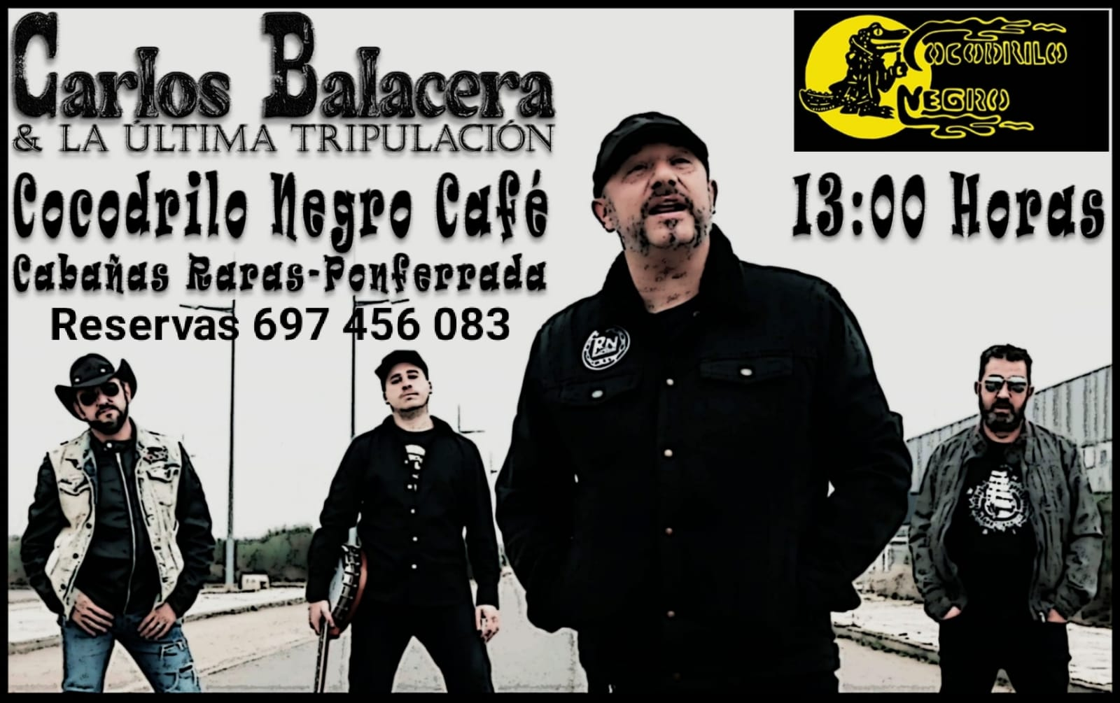 Carlos Balacera & La Última Tripulación en sesión matiné del Cocodrilo Negro de Cabañas Raras 2