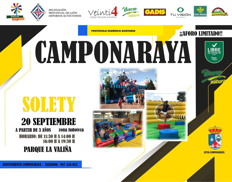 Solety, las actividades para niños que hoy puedes disfrutar en Camponaraya 2