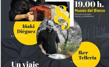 Concierto de acordeón y percusión en el Museo del Bierzo. Iñaki Diéguez e Iker Tellería: un viaje por las músicas 3