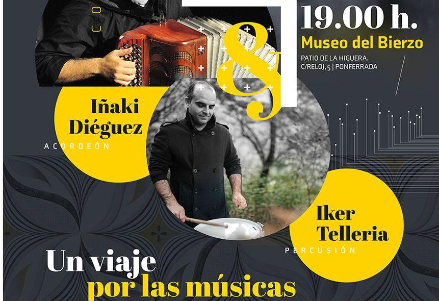 Concierto de acordeón y percusión en el Museo del Bierzo. Iñaki Diéguez e Iker Tellería: un viaje por las músicas 1