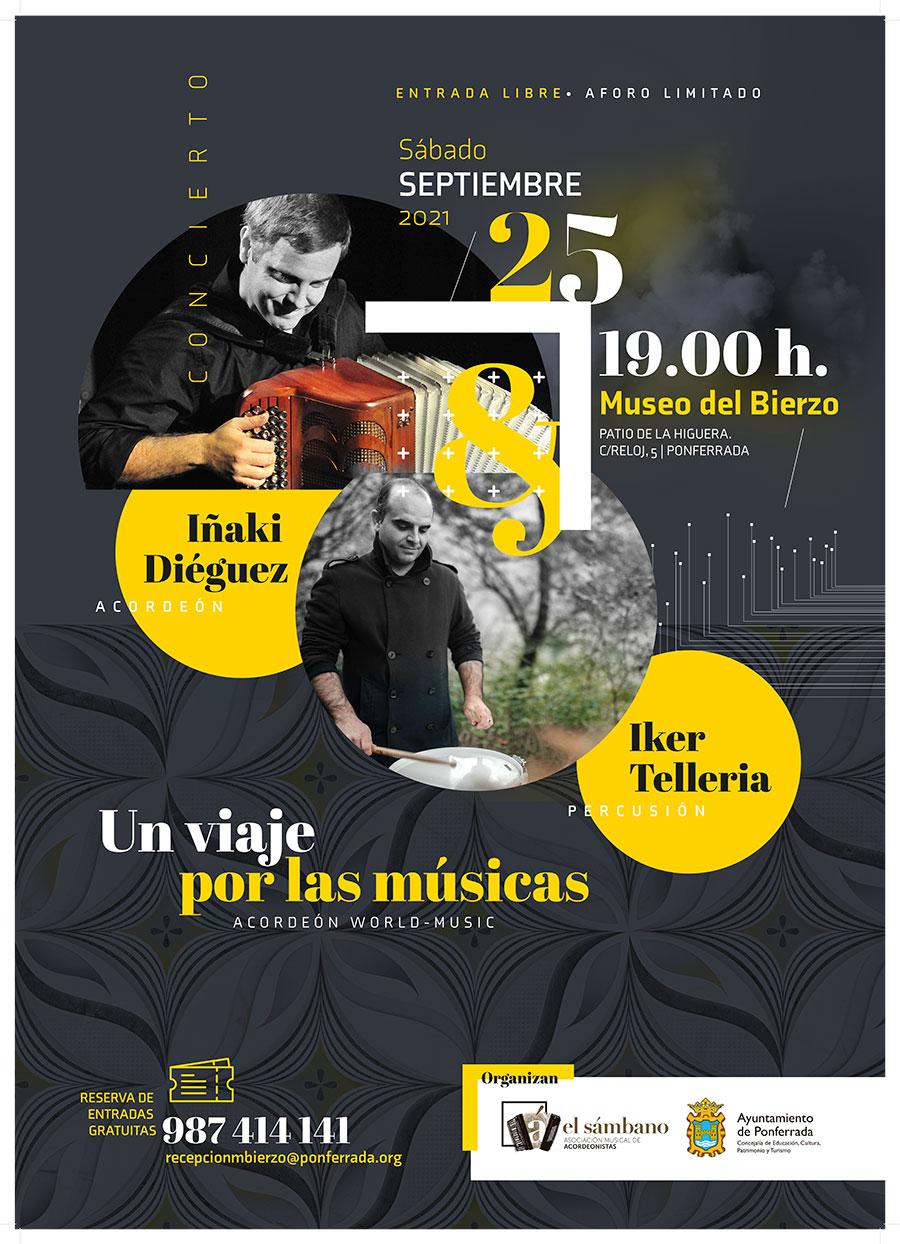 Concierto de acordeón y percusión en el Museo del Bierzo. Iñaki Diéguez e Iker Tellería: un viaje por las músicas 2