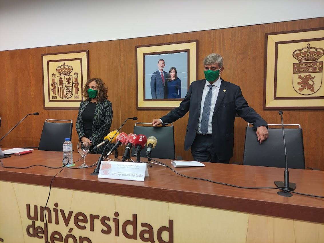 El Rector de la Universidad de León presentó esta mañana el programa de actos y el logotipo del XXV aniversario del Campus de Ponferrada 1
