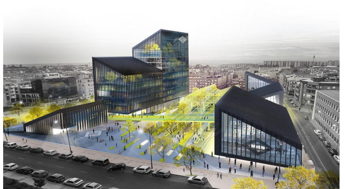 La cristalera Tvitec acristala también la nueva sede de Metro de Madrid 1