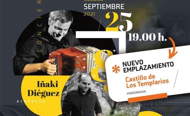 El concierto de acordeón y percusión<br>de Iñaki Diéguez e Iker Tellería se traslada a la capilla del castillo 1