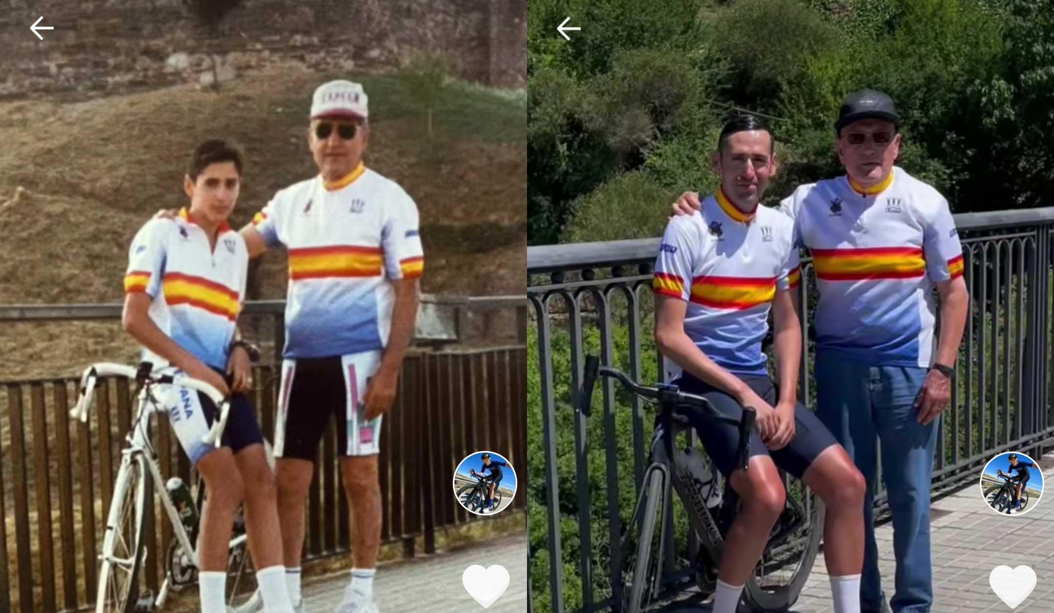 La tierna imagen que se hizo el triatleta José María López en Ponferrada 28 años después 1