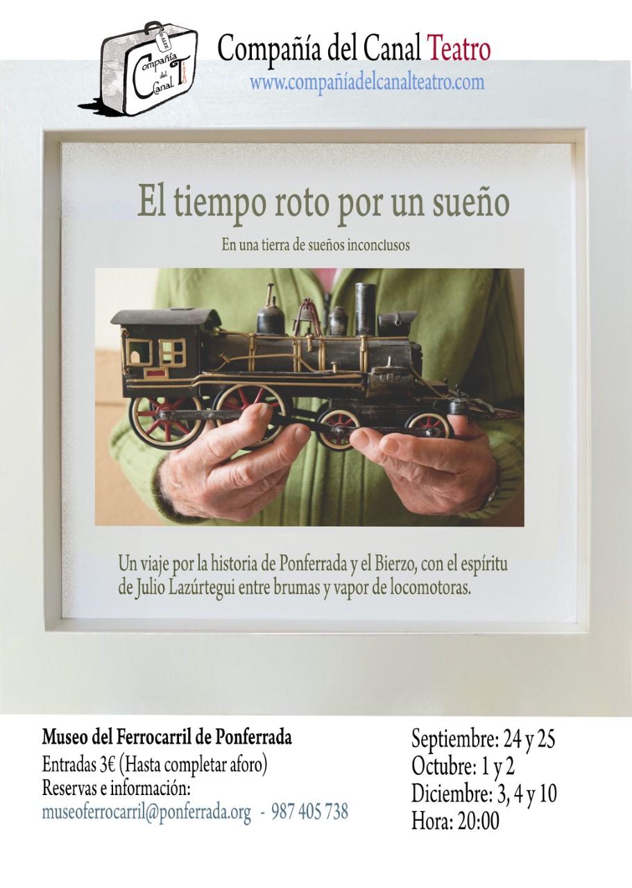 Comienzan las visitas teatralizadas al Museo del Ferrocarril, 'El tiempo roto por un sueño', del Teatro del Canal 2