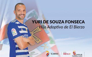 ¡Yuri-Yuri! El jugador brasileño será nombrado hijo adoptivo del Bierzo este jueves 1