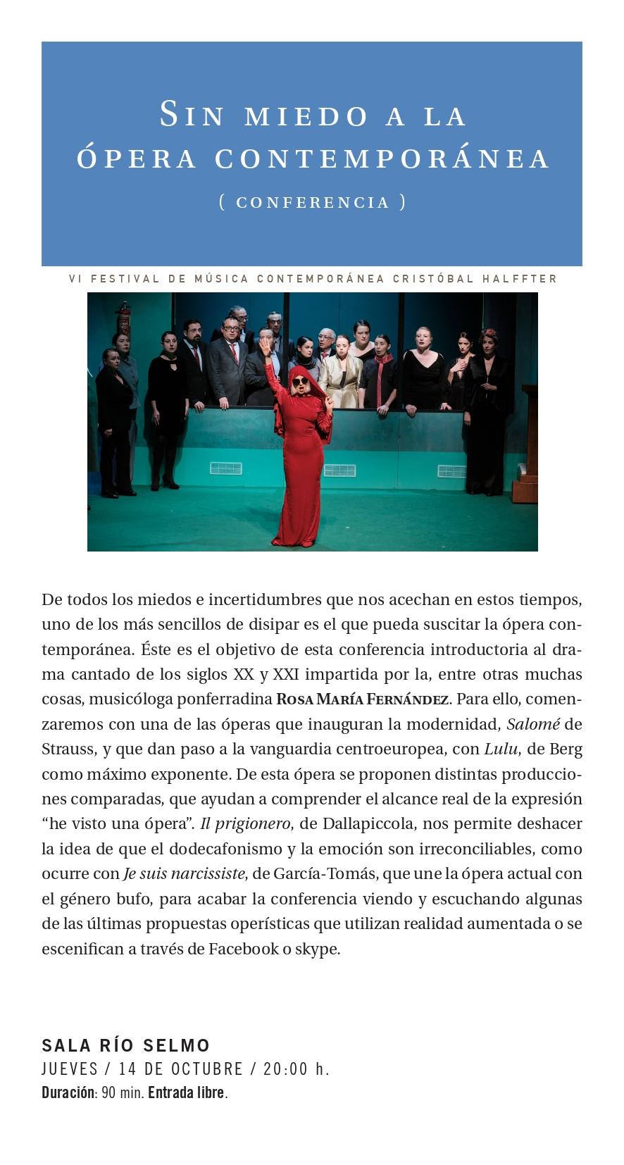 La sexta edición del Festival Cristobal Halfter repasa música del Siglo XX y XXI con estilos para todos los gustos 5