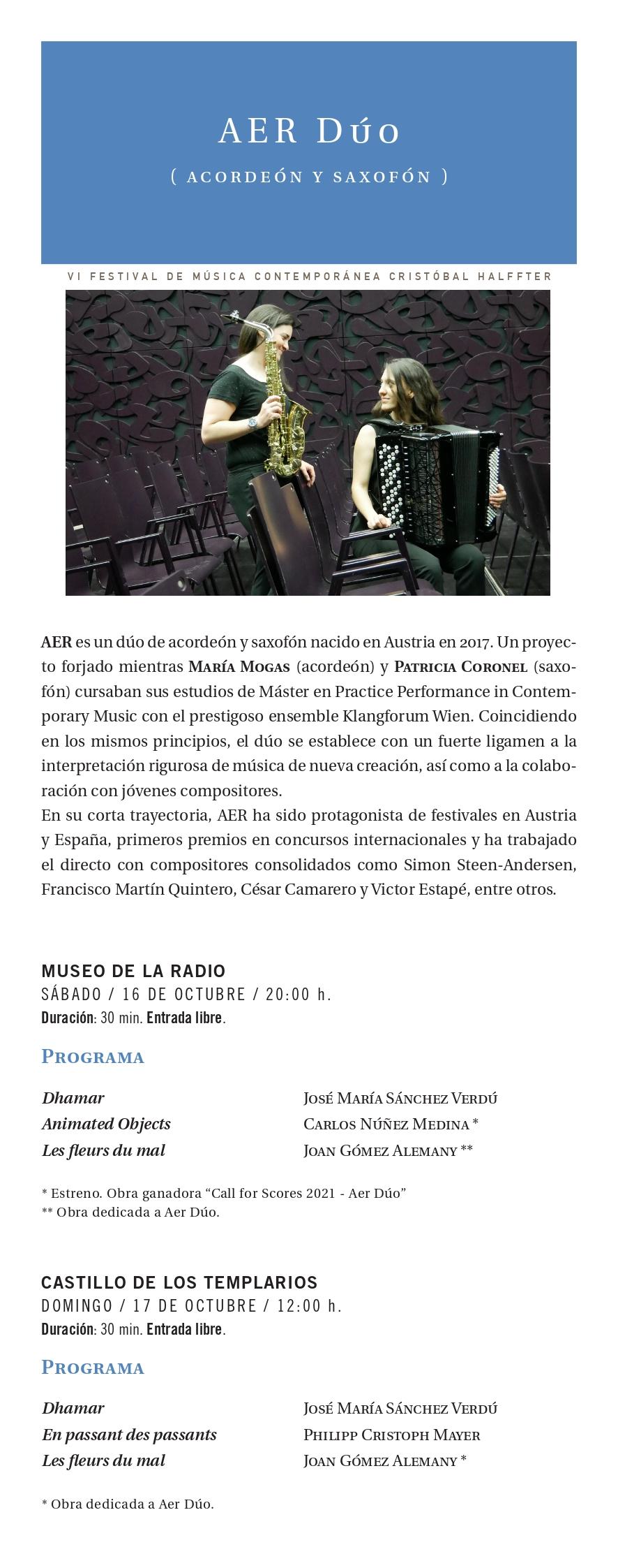 La sexta edición del Festival Cristobal Halfter repasa música del Siglo XX y XXI con estilos para todos los gustos 8