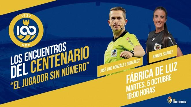 La Ponferradina abre el ciclo de conferencias por el Centenario con una conferencia de los árbitros José Luis González y Raquel Suárez 1