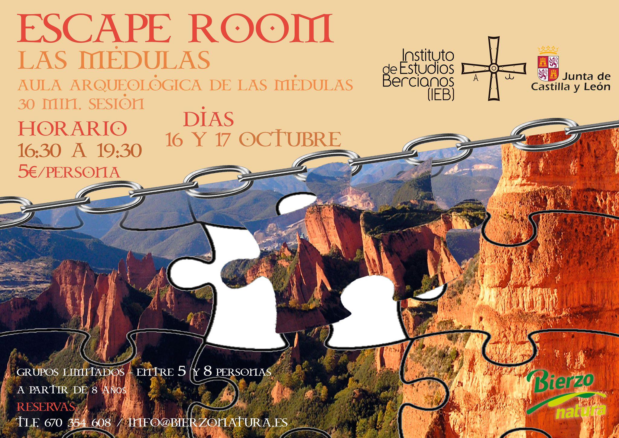 Una inciativa del IEB organiza este fin de semana una Escape Room en el Aula Arqueológica de Las Médulas 3